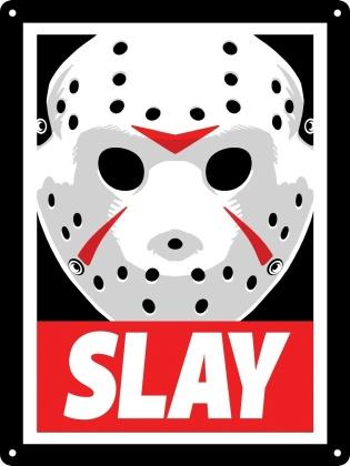 Slay Horror Mask - Mini Tin Sign