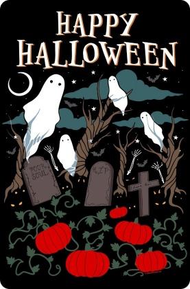 Happy Halloween Graveyard - Small Tin Sign