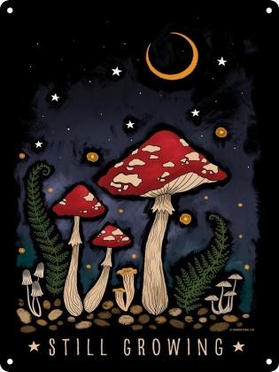 Magical Mushrooms: Still Growing - Mini Tin Sign