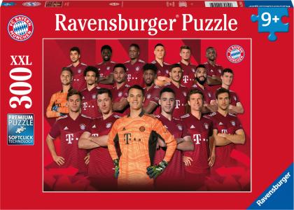 Ravensburger Kinderpuzzle 12995 - FC Bayern Saison 2021/22 300 Teile XXL - Puzzle für Kinder ab 9 Jahren