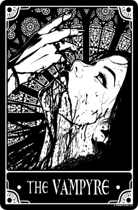 Deadly Tarot - The Vampyre Small Tin Sign