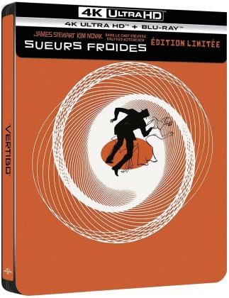 Sueurs froides (1958) (Limited Edition, Steelbook, 4K Ultra HD + Blu-ray)