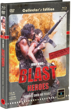 Blast Heroes - Heroes shed no tears (1984) (Cover C, Limited Collector's Edition, Mediabook, Blu-ray + DVD)