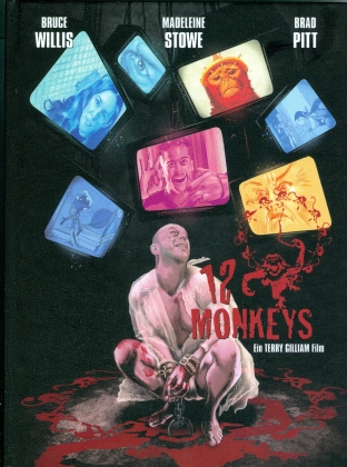 12 Monkeys (1995) (Cover C, Edizione Limitata, Mediabook, Blu-ray + DVD)