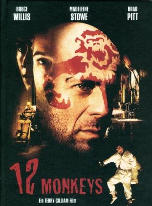 12 Monkeys (1995) (Cover A, Limited Edition, Mediabook, Blu-ray + DVD)