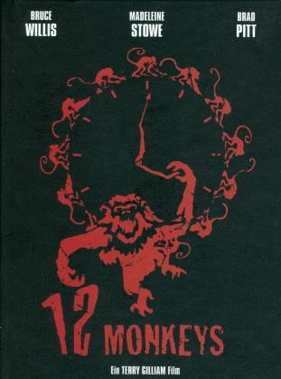 12 Monkeys (1995) (Cover B, Limited Edition, Mediabook, Blu-ray + DVD)