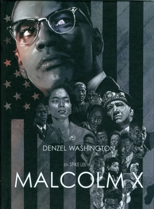 Malcolm X (1992) (Cover C, Limited Edition, Mediabook, Blu-ray + DVD)