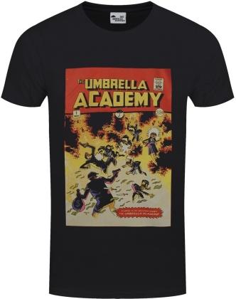 Umbrella Academy Comic Cover - Men's Black T-Shirt