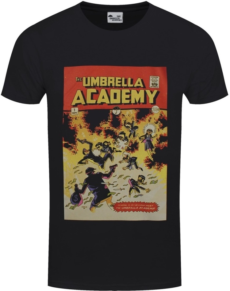 Umbrella Academy Comic Cover - Men's Black T-Shirt - Grösse M