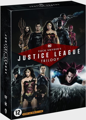 Zack Snyder's Justice League Trilogy - Man of Steel / Batman v Superman : L'aube de la justice / Zack Snyder's Justice League (4 DVD)