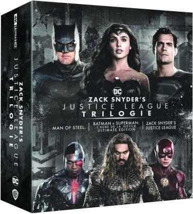 Zack Snyder's Justice League Trilogy - Man of Steel / Batman v Superman : L'aube de la justice / Zack Snyder's Justice League (4 4K Ultra HDs + 4 Blu-ray)