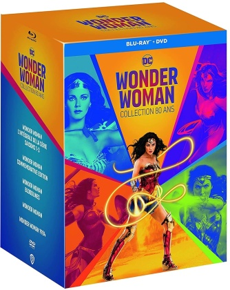 Wonder Woman - Collection 80 ans - Wonder Woman - L'intégrale de la série / Wonder Woman - Commemorative Edition / Wonder Woman - Bloodlines / Wonder Woman (2009) / Wonder Woman 1984 (2020) (4 Blu-ray + 21 DVD)