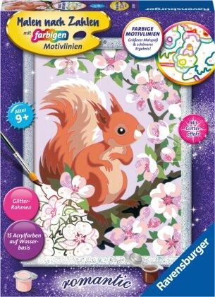 Ravensburger Malen nach Zahlen 20064 - Neugieriges Eichhörnchen – Kinder ab 9 Jahren