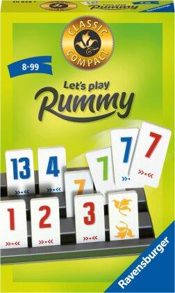 Ravensburger® - Classic Compact Let's play Rummy 20848 - beliebtes Taktik-Legespiel ab 8 Jahren