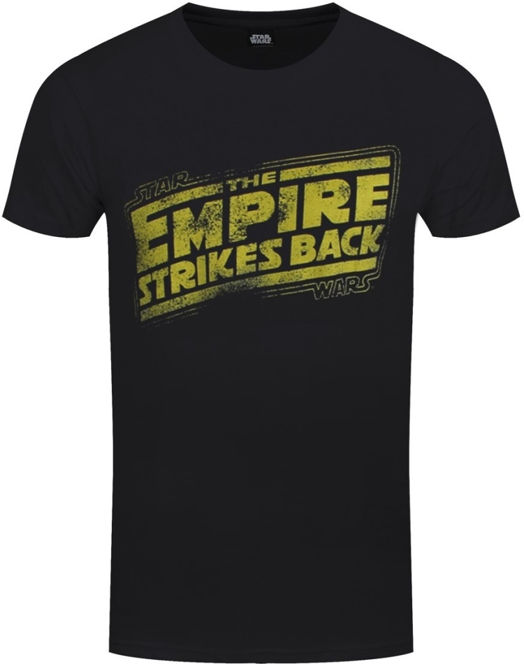 Star Wars Empire Strikes Back Logo Men's Black T-Shirt - Grösse M
