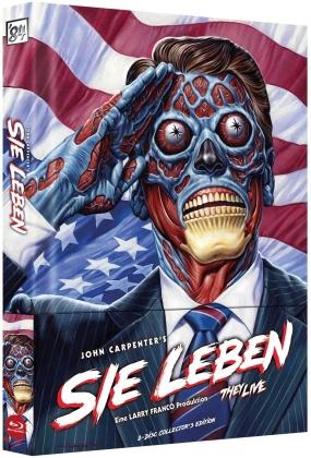 Sie leben (1988) (Cover A, Wattiert, Limited Collector's Edition, Mediabook, 2 Blu-rays)