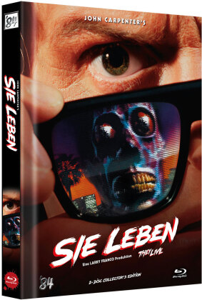 Sie leben (1988) (Cover B, Limited Collector's Edition, Mediabook, 2 Blu-rays)