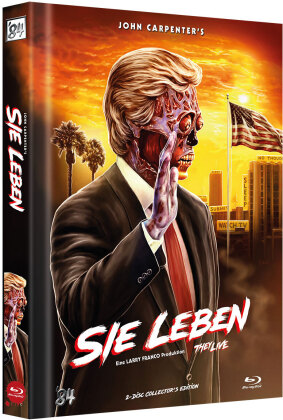 Sie leben (1988) (Cover C, Limited Collector's Edition, Mediabook, 2 Blu-rays)