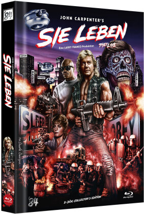 Sie leben (1988) (Cover E, Limited Collector's Edition, Mediabook, 2 Blu-rays)