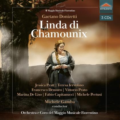 Gaetano Donizetti (1797-1848), Michele Gamba, Jessica Pratt, Teresa Iervolino, Francesco Demuro, … - Linda Di Chamounix (3 CDs)