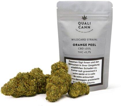 Qualicann Wildcard Strain (Orange Peel) (5.5g) - (CBD: <20% THC: <1%)