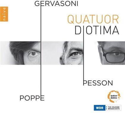 Quatuor Diotima, Gérard Pesson, Stefano Gervasoni & Enno Poppe (*1969) - Gervasoni, Pesson, Poppe (3 CDs)