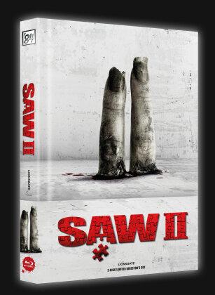 Saw 2 (2005) (Cover A, Wattiert, Director's Cut, Limited Edition, Mediabook, Blu-ray + DVD)