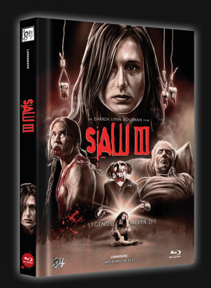 Saw 3 (2006) (Cover B, Director's Cut, Limited Edition, Mediabook)