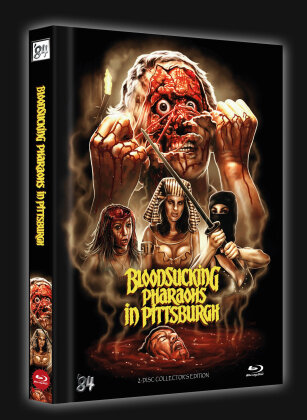 Bloodsucking Pharaohs in Pittsburgh (1991) (Cover B, Limited Collector's Edition, Mediabook, Blu-ray + DVD)