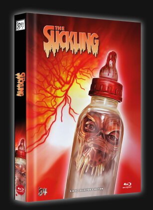 The Suckling (1990) (Cover C, Limited Collector's Edition, Mediabook, Blu-ray + DVD)