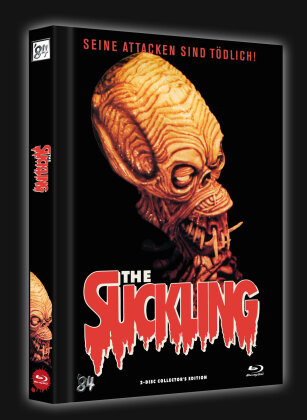 The Suckling (1990) (Cover D, Limited Collector's Edition, Mediabook, Blu-ray + DVD)