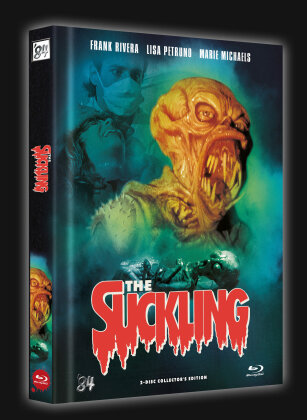 The Suckling (1990) (Cover E, Limited Collector's Edition, Mediabook, Blu-ray + DVD)