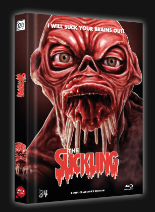 The Suckling (1990) (Cover F, Limited Collector's Edition, Mediabook, Blu-ray + DVD)