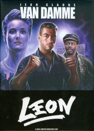 Leon (1990) (Cover A, Wattiert, Director's Cut, Limited Edition, Mediabook, 3 Blu-rays + 3 DVDs)