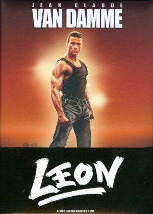 Leon (1990) (Cover B, Wattiert, Director's Cut, Limited Edition, Mediabook, 3 Blu-rays + 3 DVDs)